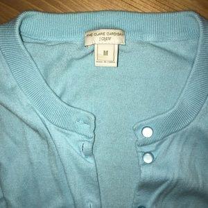 Jcrew blue 3/4 sleeve sweater